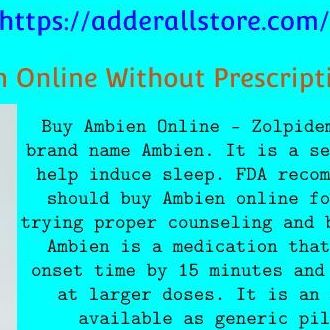 Buy Ambien Online Without Prescription in USA